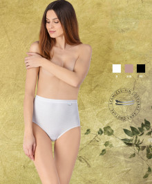 Cotton high waisted brief