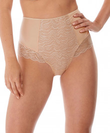 PANTIES & THONGS : High waisted briefs with opaque back