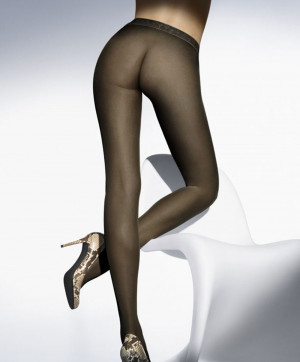 Collants Fatal 15 Tights Noir Collants et Bas Wolford Face 18076